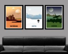 Force Inspired - Star Wars Inspirited - Minimalist Poster Set - Movie Poster - Home Decor Star Wars Decor, Star Wars Art, Cuadros Diy, Star Wars Bedroom, Star Wars Love, Geek Decor, Star Wars Merchandise, Ideas Hogar, Just Dream