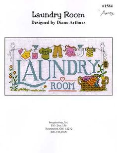 Laundry Room - Cross Stitch Pattern