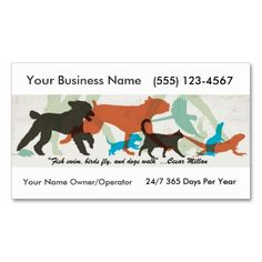 Pet Sitter Dog Walker  Business Card. Make your own business card with this great design. All you need is to add your info to this template. Click the image to try it out!