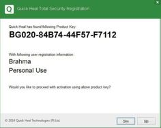 Quick Heal Total Security 2016 Product Key Crack (32 & 64 bit) Full