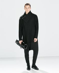 Image 1 of DARK COAT from Zara