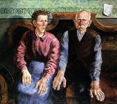 Otto Dix - The Artist's Parents II, Sprengel Museum, Hannover Pablo Picasso, George Grosz, Cubist Movement, Georges Braque, Wassily Kandinsky, Cubism, Otto Dix, Les Oeuvres, Paintings