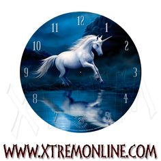 Reloj de Anne Stokes - Moonlight Unicorn.