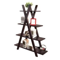 {Torey Bookcase Étagère} neat design - would make a nice display for plants.