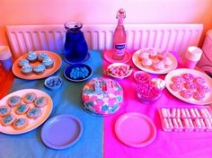 pink and blue baby gender reveal party