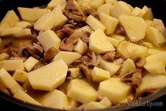 Μανιτάρια και πατάτες με κρασί ⋆ Cook Eat Up! Cantaloupe, Vegan, Fruit, Cooking, Recipes, Food, Kitchen, Recipies, Essen