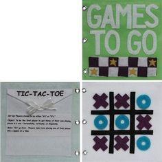 Games to Go Quiet Book Pattern Busy Book Pattern por CopyCrafts