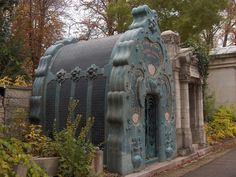 Budapest, the Jewish Cemetery in Kozma utca - Art Nouveau crypt designed by Béla Lajta Cemetery Dance, Pet Cemetery, Hungary History, Old Cemeteries, Graveyards, Mourning Jewelry, Garden Stones, Memento Mori, The Guardian
