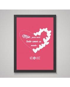 Quadro Mãe Todo Amor de Coração