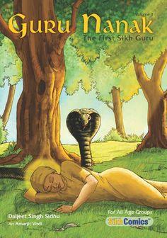Guru Nanak - The First Sikh Guru, Volume 1 (English Graphic Novel) Guru Nanak Ji, Nanak Dev Ji, Guru Nanak Stories, Guru Nanak Jayanti, Sri Guru Granth Sahib, Culture Day, Guru Gobind Singh, Kids Story Books, The One