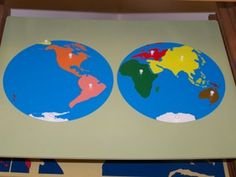 How to have children make their own continent map.