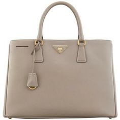 Prada 'Saffiano' tote in gray. Obsessed, obsessed, obsessed. You shall be my next big purchase...