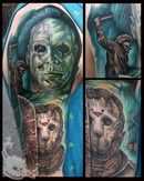 Halloween and Friday the 13th Tattoo