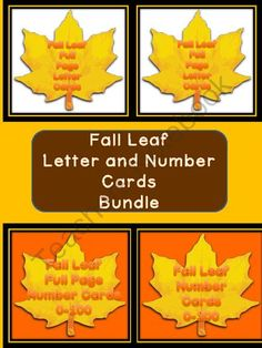 Fall Leaf Letter and Number Flashcards and Posters Big Bundle from My Kinder Garden on TeachersNotebook.com (242 pages)  - Here is the fall leaf letter and number cards in a bundle. The Bundle includes the Fall Leaf Full Page Alphabet Letter Cards Uppercase and Lowercase and the Fall Leaf Alphabet Letter Cards Uppercase and Lowercase as well as the Fall Leaf Full Page Number