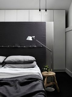Kerferd Place by Whiting Architects Masculine bedroom handsome gay bed men sexy rooms man cave interior design decorating