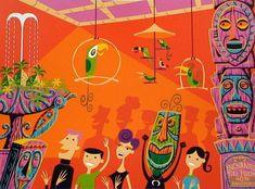 eBay: SHAG Disneyland Enchanted Tiki Room Ltd. Ed. Signed Print 260/300 -- Tiki Central