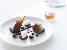 Black forest, chocolate délice with mascarpone sorbet, cherries and chocolate jelly