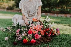 basket of flowers // Flower of the Month - Rose