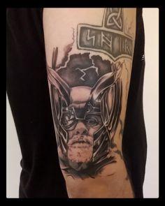 Odin tattoo, black and grey tattoo by Mael tattoo