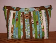 Tropical handmade purse