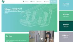 A great way to do this, as this site by SHIBUI has done here, is to use gradients. This site's palette is made up of fresh blue and turquoise colors (Top Design Color Schemes) Website Color Themes, Website Color Palette, Green Colour Palette, Green Colors, Color Palettes, Blue Green, Web Colors, Unique Colors, Web Design Inspiration