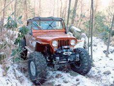 1981 Jeep CJ8 Scrambler Four Wheeling