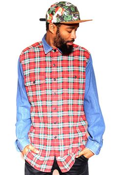 Vintage Tommy Hilfiger Check Denim Shirt XL $49