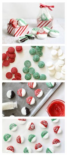Dipped Christmas cookies are perfect for gifting or an adorable DIY for Santa.