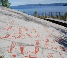 The UNESCO-protected rock carvings in Alta, Norway - Alta museum is worth to visit, too. Photo: Kjersti Bang