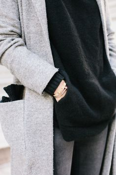 details: sweater, sweater, bangles, gray