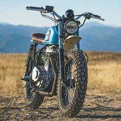 Honda CB360 by @robertsperformancegroup | See / read more on @bikeboundblog (direct article link in our profile). #scramblersandtrackers #bikebound #robertsperformance #cb360 #honda #scrambler #tracker #scramblers #trackers