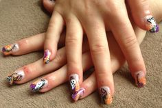 Halloween nails done by Lyndell spell