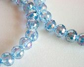 Blue Crystal Bracelet / Stacking Bracelet / Stretchy Bracelet / Aurora Borealis / Micro Faceted / Super Shiny / Disco / Glam / Simple
