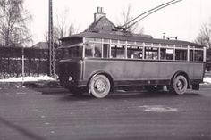 """#Københavns (Copenhagens) Vogn- og Karrosserifabrik """"Nesa 6"""" serie 1 trolleybus on Garrett chassis (1928), rebuilt at Scania (1950-53), Denmark"""