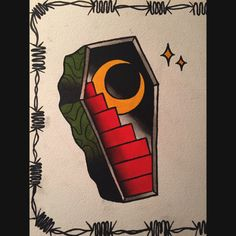 Traditional Coffin Flash Pin traditional coffin tattoo quotes on . Coffin Tattoo, Skin Art, Tattoos, Art Appreciation, Halloween Tattoos, Tattoos And Piercings, Art Tattoo, Art, Traditional