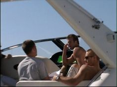Paul on set of Into The Blue