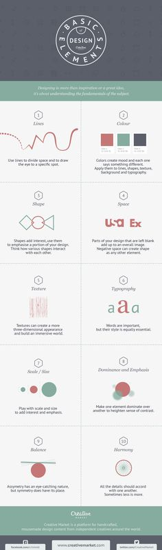 basic elements of design - infographic - creative market blog