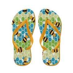 Honey Bee Flip Flops