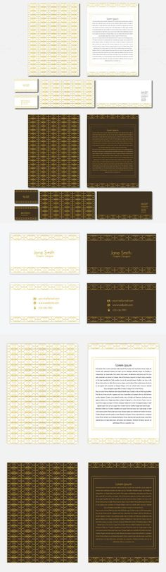 Corporate Identity template . Stationery Templates. $10.00