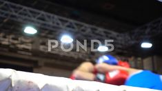Boxers box in the ring. Out of focus. Out Of Focus, Video Footage, Model Release, Glove, Boxing, Athlete, Competition, Battle, Champion