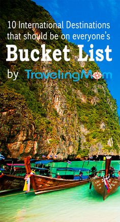 There are a few places in the world everyone HAS to visit. We've got the list here along with what we love about each destination!