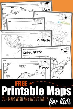 Map Worksheets for Kindergarten Free Printable Maps Geography Worksheets, Map Worksheets, Social Studies Worksheets, Social Studies Activities, Kindergarten Worksheets, Printable Worksheets, Free Printable World Map, Printable Maps, Free Printables