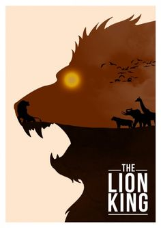 Minimalistic poster of The Lion King