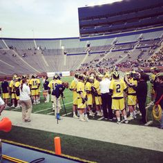 More from Michigan Lacrosse as they took on Ohio State at the Big House on 4/14/12