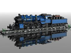 LEGO MOC: Bavarian S3-6 Steam Engine in 7 wide