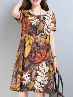 Casual Evening Dresses, Cute Casual Dresses, Short Sleeve Dresses, Dresses With Sleeves, Ideias Fashion, Stuff To Buy, Women, Evening Dresses, Woman Dresses