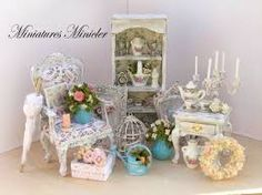 Image result for shabby chic dollhouse miniatures