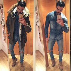 Maluma Style, King Fashion, Lined Jeans, Moda Chic, Cool Outfits, Fashion Outfits, Moda Casual, Mens Clothing Styles, Stylish Men