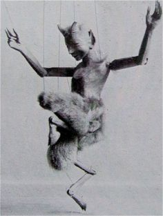 'Faun' by British artist and puppet-maker William Simmonds via Clive Hicks-Jenkins' Artlog Puppet Costume, Marionette Puppet, Toy Theatre, Puppet Show, Puppet Making, Shadow Puppets, Satyr, Stop Motion, Animation