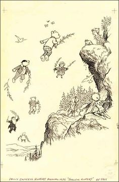 RUPERT BEAR by Alfred Bestall MBE (1892-1986) - Artist and Illustrator, Alfred Bestall, took over the Rupert Bear strip published in the Daily Express, from Mary Tourtel in the mid 1930's.